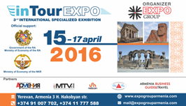 Добро пожаловать на 3-ю международную туристическую выставку In Tour Expo-2016